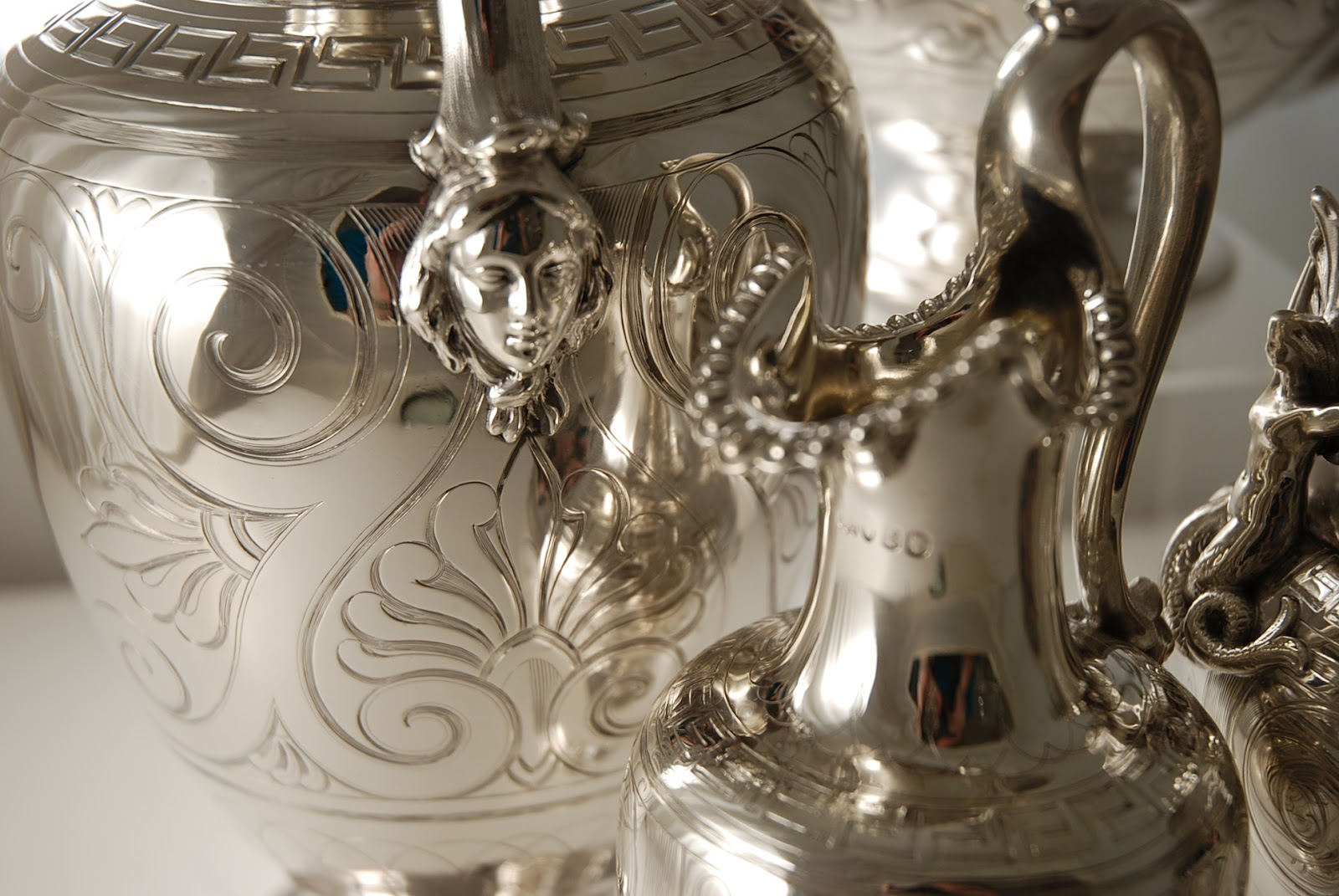Antique Silver Tea Sets and antique silver plated tea sets are highly prized and a truly wonderful way to add a little luxury to every day life. & Antique Silver and Design Blog: Antique Silver Tea Sets
