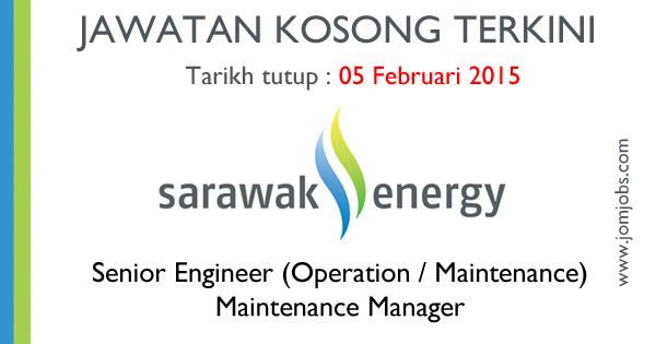 Jawatan Kosong Sarawak Energy 2015 Terkini