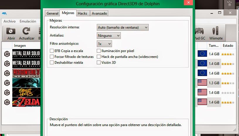 Configuracion Graficos 2