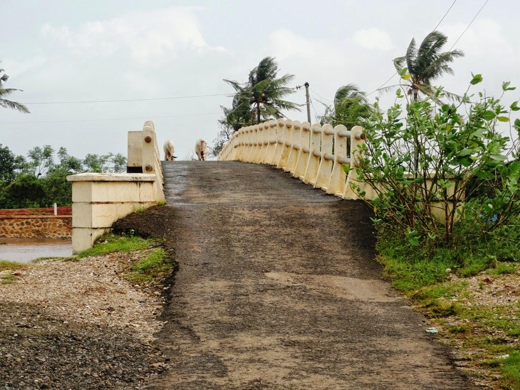 Jembatan kecil sebelum masuk pantai Pungkruk, Jepara