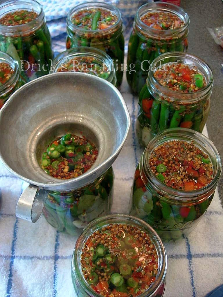Spicy Pickled Green Beans ~ Drick's Rambling Cafe