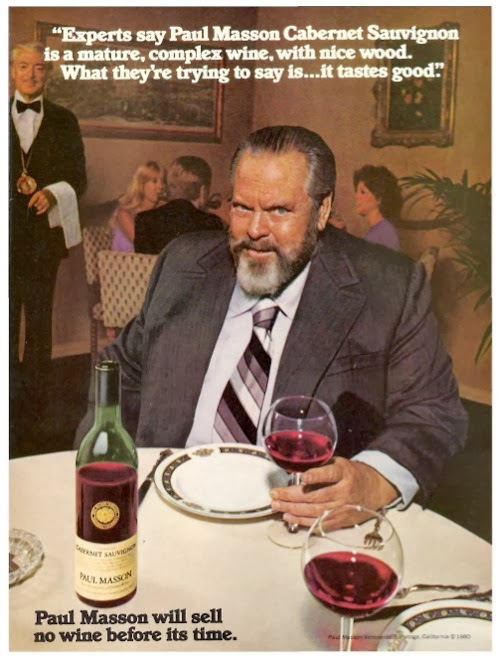 Image result for orson welles wine commercial