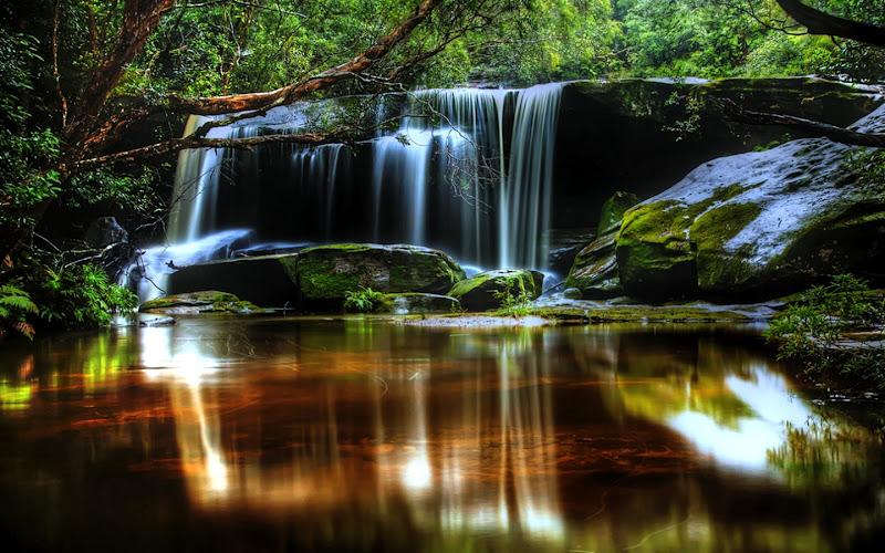 cascadas de agua para descansar