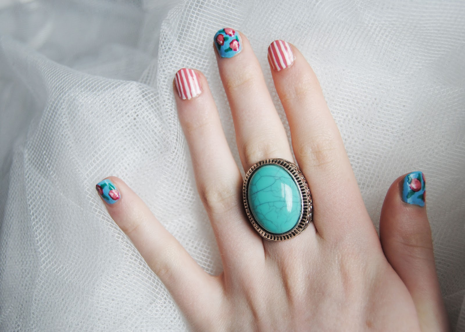Vintage floral nail art tutorial vintage floral nail art on tuesday evening i was browsing ebay for nail prinsesfo Image collections