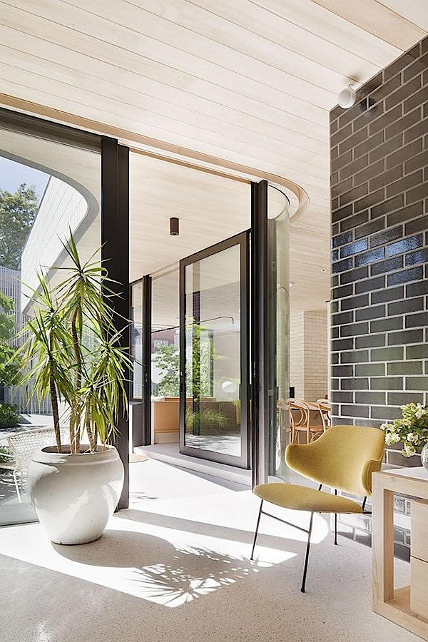minimalist modern home interior design with panel color
