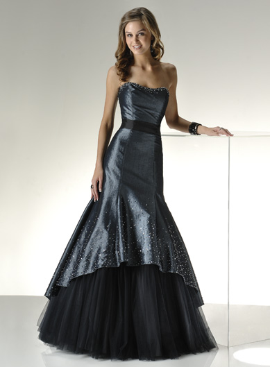 a wedding addict a line dark blue layer tail strapless With dark blue dresses for weddings