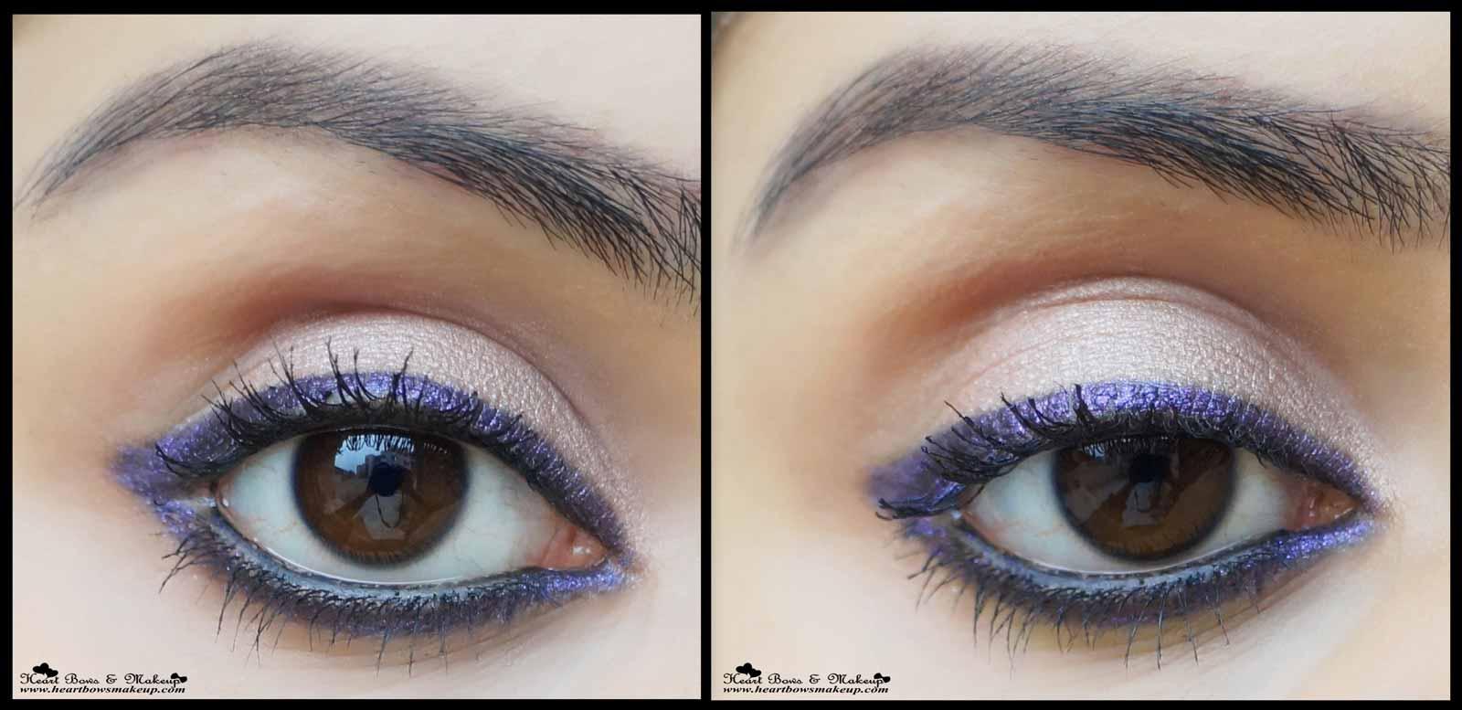 美宝莲Colorshow蜡笔小新Khol高贵紫色眼影评论色板购买印度