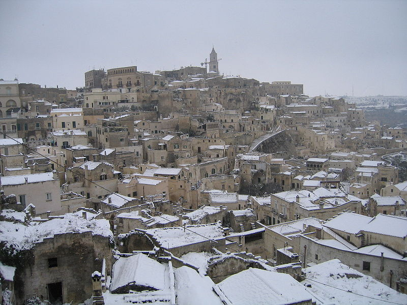 The Sassi di Matera situated in the old town, they are composed of the Sasso Caveoso and the later Sasso Barisano.