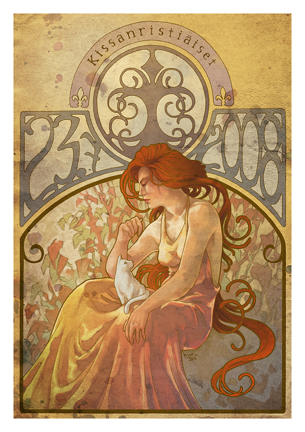 art nouveau Art nouveau (1890-1914): international style of curvilinear design applied to architecture, posters and other visual arts.
