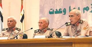 المجلس العسكري : إعلان مرسى فوزه بانتخابات الرئاسة خروج عن الشرعية