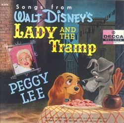Peggy Lee Songbook for Lady and the Tramp 1955 animatedfilmreviews.blogspot.com