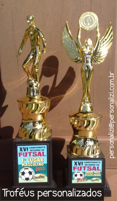 Trofeus e medalhas personalizadas