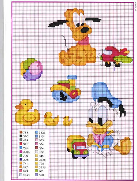 abbastanza Punto Croce: Disney Babies 45 - Paperino e Pluto KG76