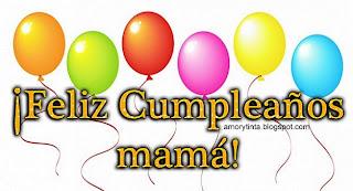 tarjeta de globos para el cumpleaños de mamá
