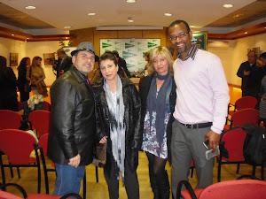 En la presentación de los poemarios de Xose con Núria espinosa y amigos.