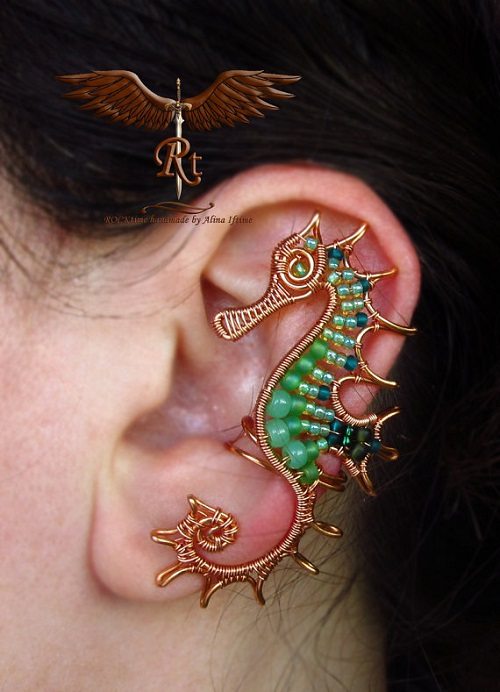 Wire Wrapped Ear Cuff Artistry by RockTime