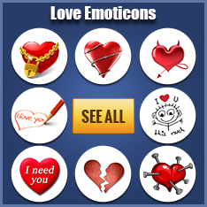 Facebook Love Emoticons