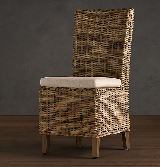 wicker dining chair 1