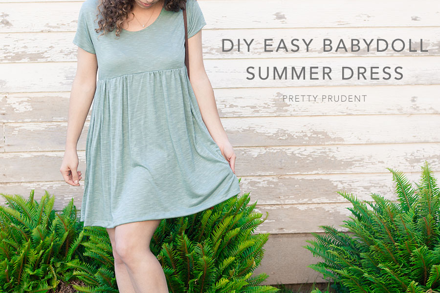 Summer Knit Dress Simple Sewing Tutorial