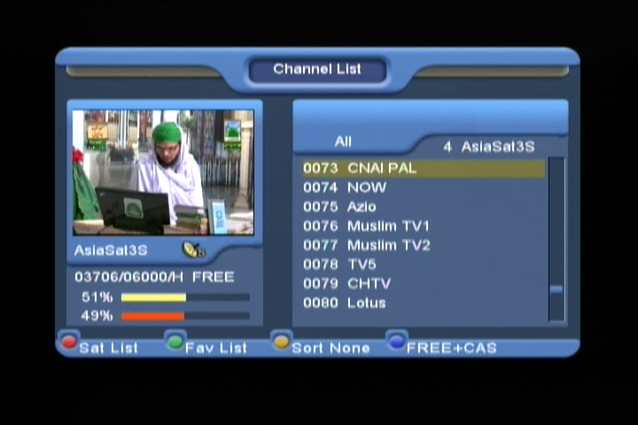 March 2013- Free To Air (FTA) TV Channels On AsiaSat 3S 105.5°E