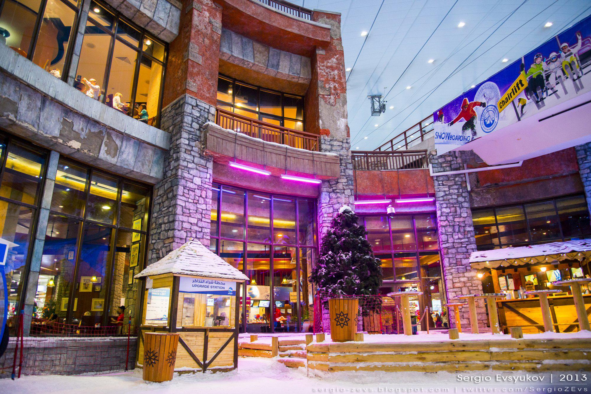 Горнолыжный курорт, ОАЭ, снег, необычно, Торговый Центр
