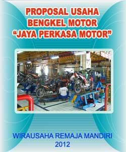 Contoh Cover Proposal Usaha Bengkel Motor