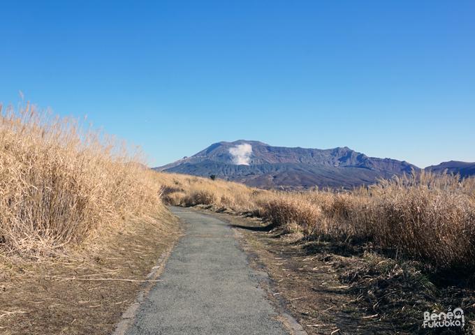 Chemin de randonnée au Mont Aso