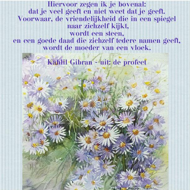Citaten Kahlil Gibran : Spirituele vrienden juli
