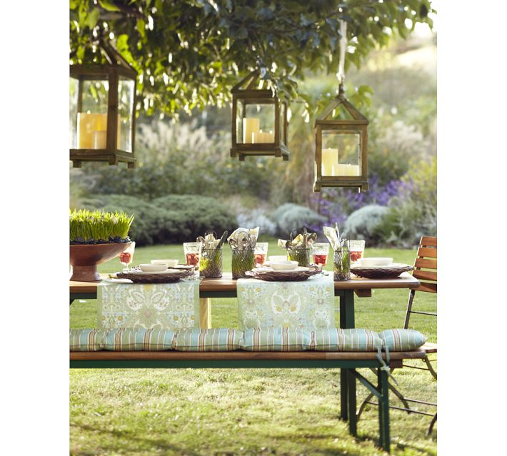 pottery barn tavern folding dining table and bench set. Black Bedroom Furniture Sets. Home Design Ideas