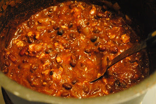 Photo of a bowl of Hearty black bean chili