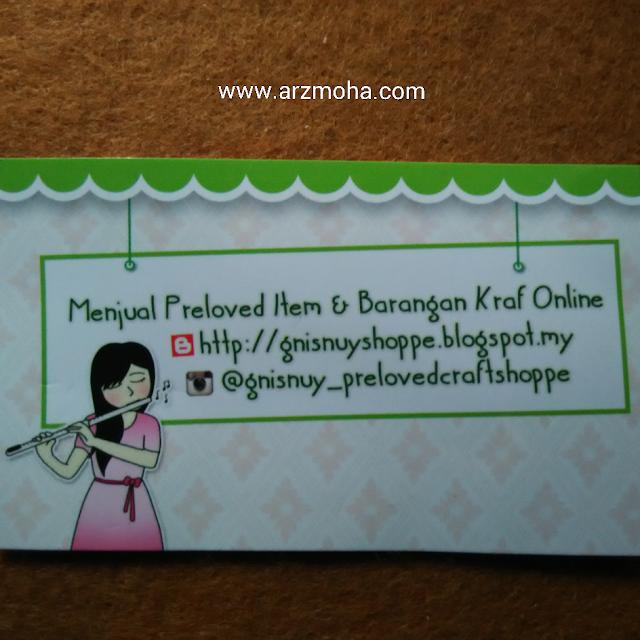 hadiah top komentator, name kad, kad bisnes, blogger malaysia, contoh kad bisnes,