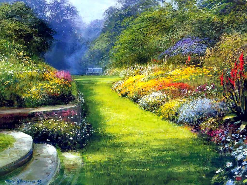 ... précipitez-vous au concert divin ... Beau+jardin+peintre+inconnu