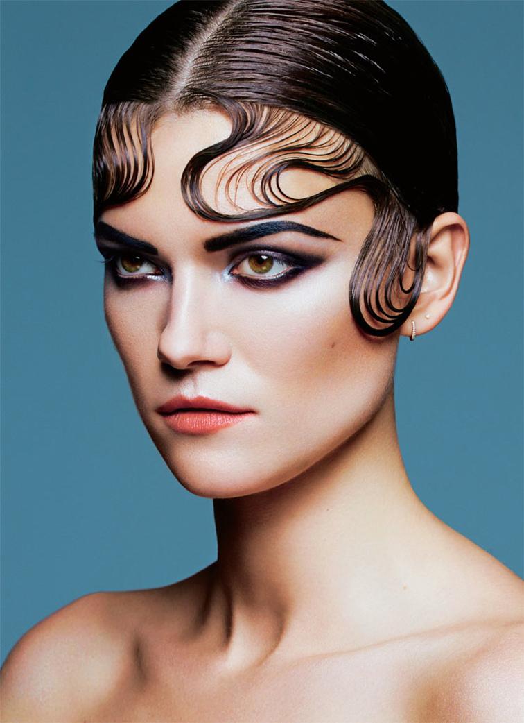 Kasia Struss for S Moda March 2015, wet hair