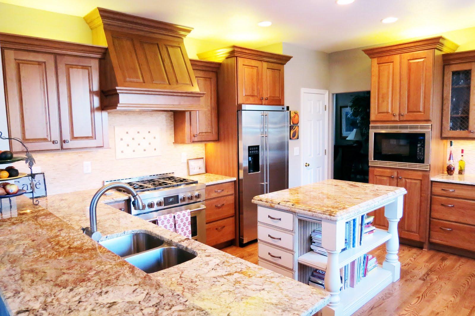 Dark Cherry Cabinets with Granite Countertops
