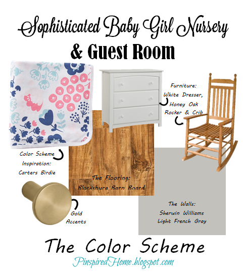 http://pinspiredhome.blogspot.com/2015/01/baby-girl-nursery-color-scheme.html