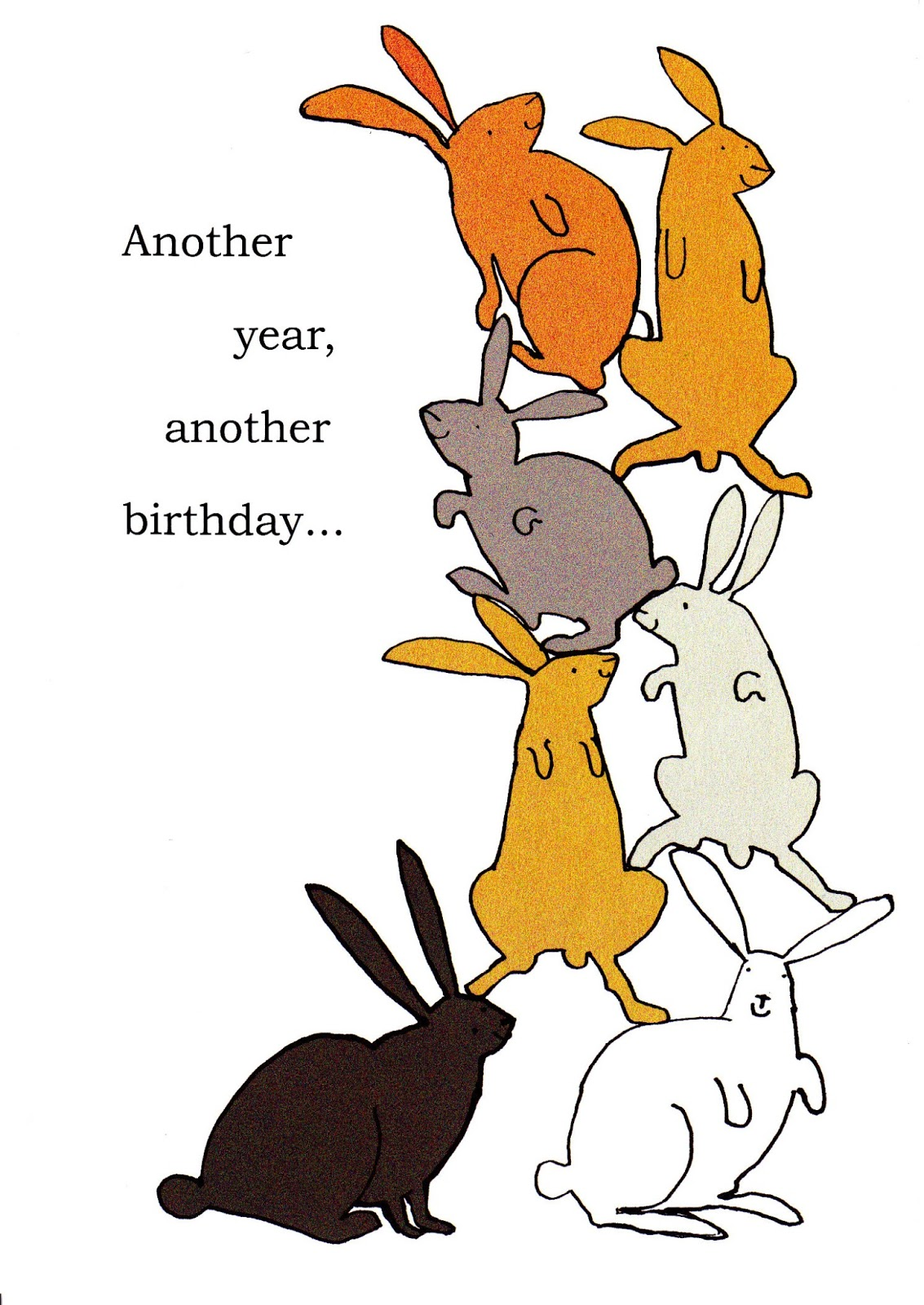 Bunny Birthday Cards GHRS Challenge Update