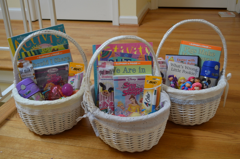 Disco mom takes on the world the girls easter baskets the girls easter baskets negle Image collections