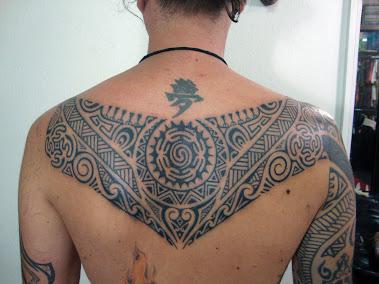 Back piece polynesian style