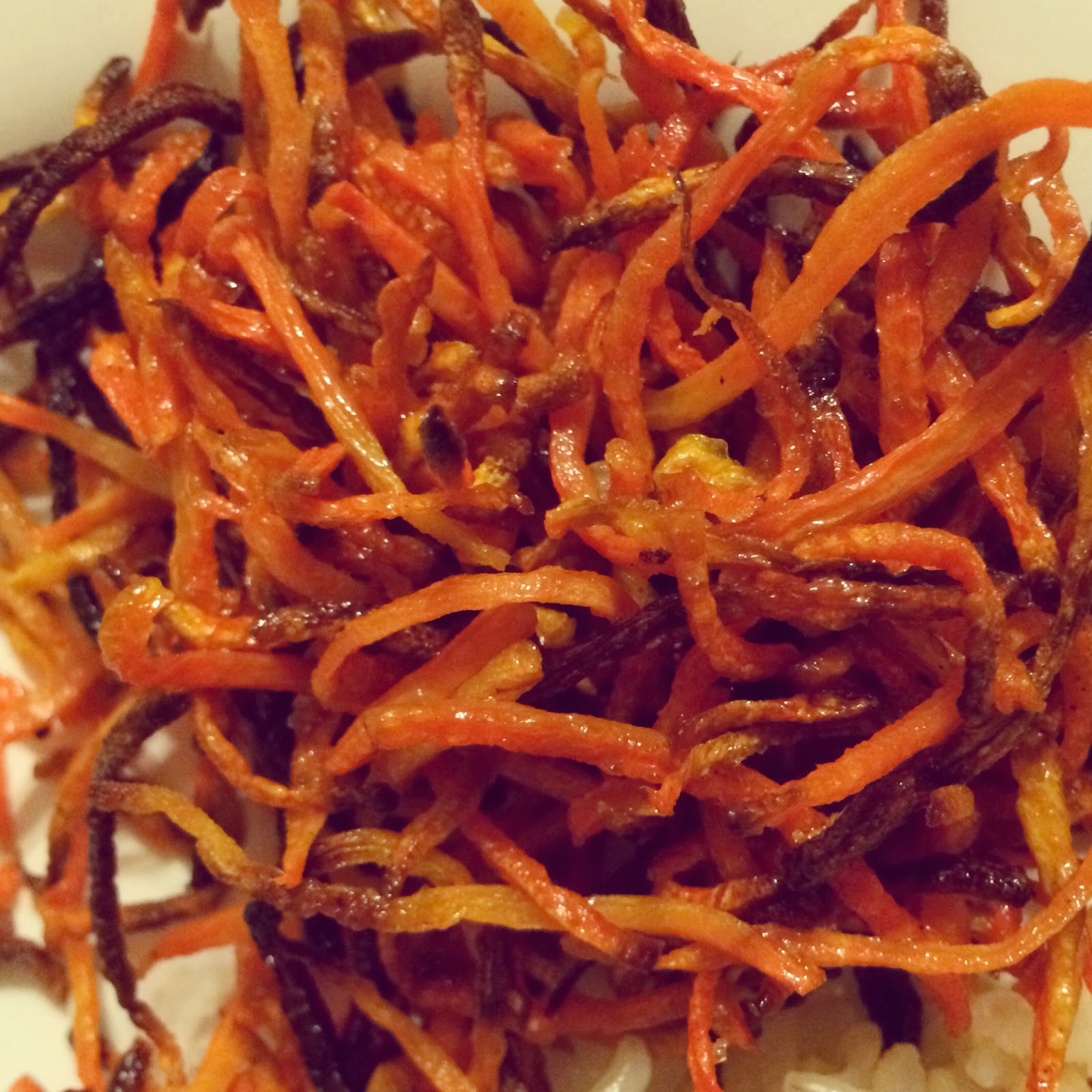 Little Cook in the Big City: Oven Baked Shredded Carrot Fries