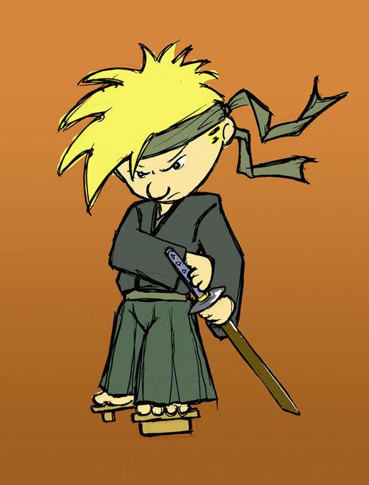Samurai Calvin por mangaman13