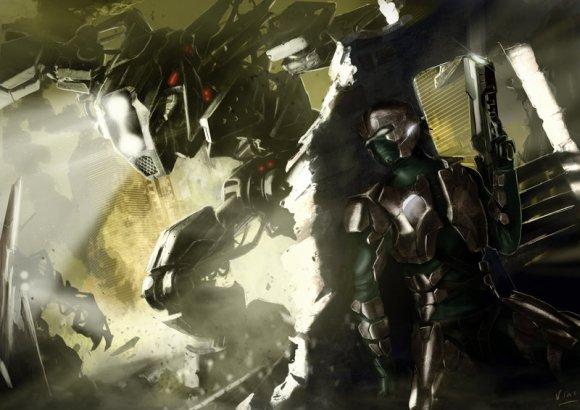 vincent ptitvinc deviantart ilustrações artes conceituais fantasia futurista robôs tecnologia Guerra cibernética
