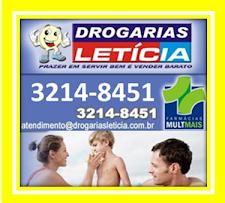 DROGARIAS LETICIA - PLANTÃO 24 HORAS NA AV. CINQUENTENÁRIO