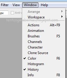 Cara pasang fungsi histori/undo pada photoshop