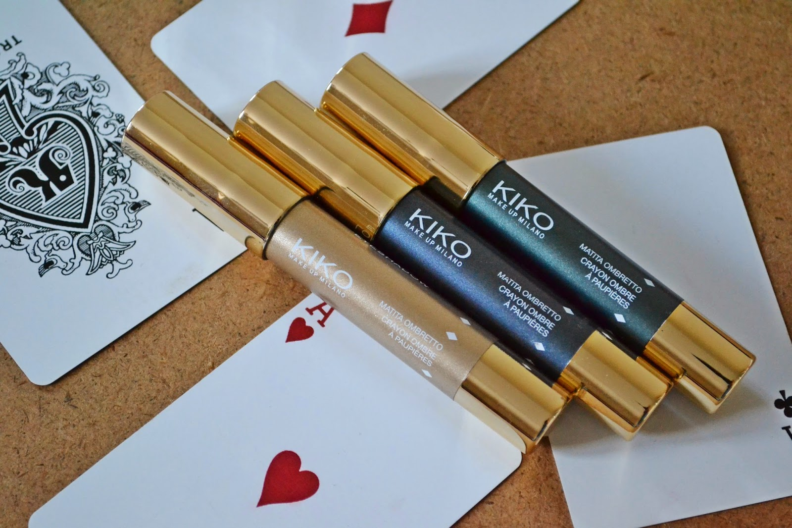 Kiko Milano Color-Up Long Lasting Eyeshadow Pencils in 28 Persuasive Anthracite, 11 Charming Champagne & 29 Irresistable Teal - Aspiring Londoner