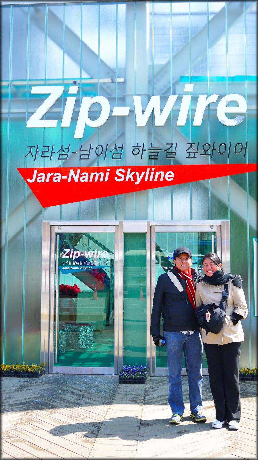 Kris and Ria visit Korea 2011: Zip Line from Gapyeong to Nami Island
