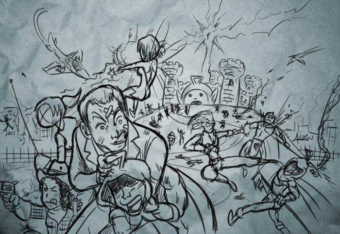 La Resistencia distrayendo al ejército imperial mientras nuestros héroes se enfrentaban a Fernando LXIX