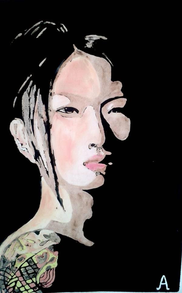 retrato de asiatica