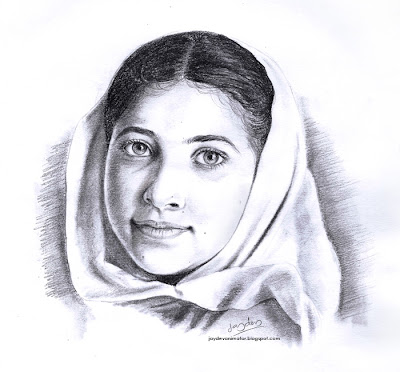 Malala Pencil Portrait, Malala portrait painting, Malala image drawing, Malala Sketch