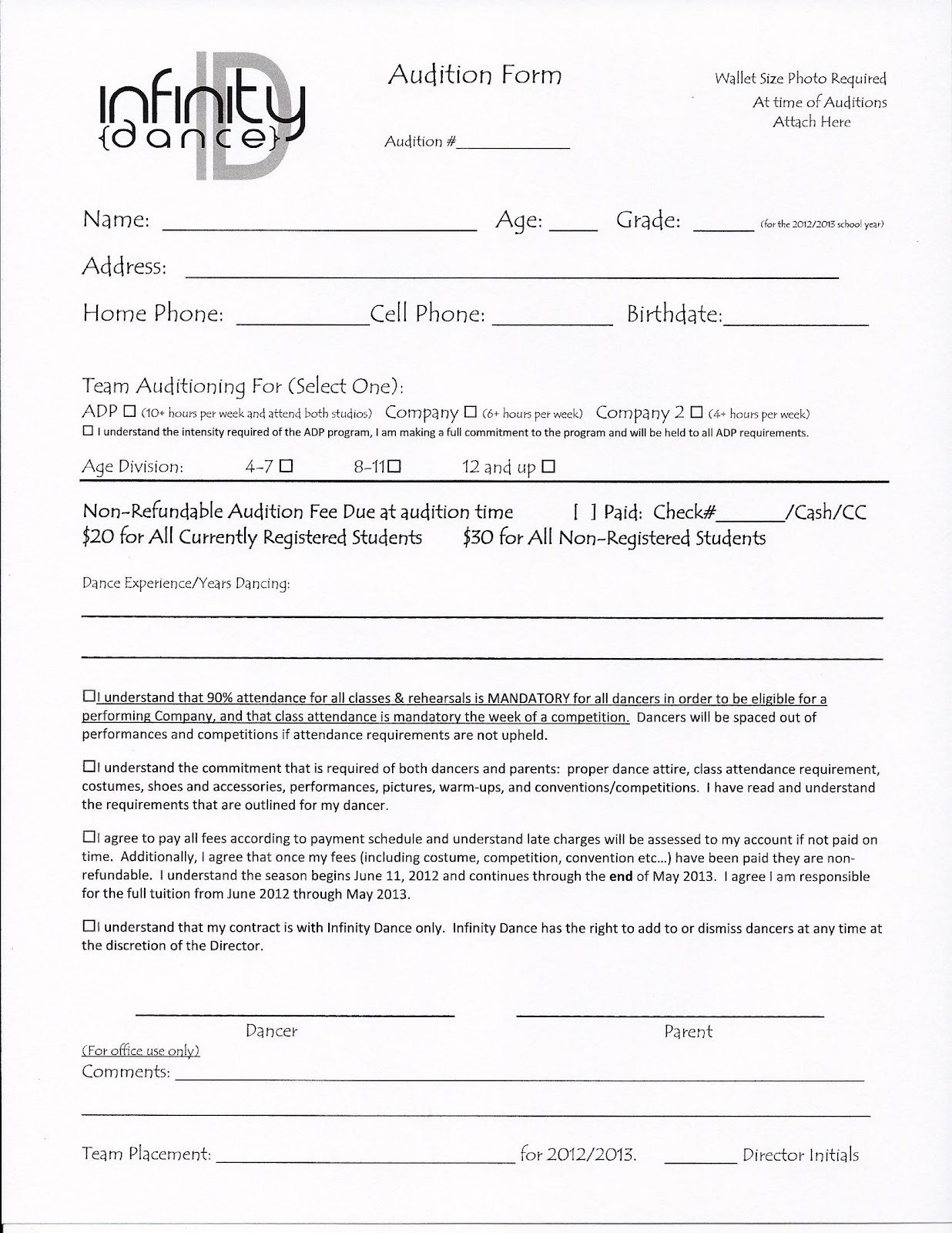 AuditionFormjpg – Audition Form