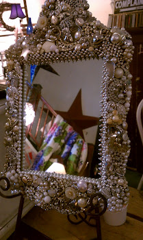 jewel encrusted mirror